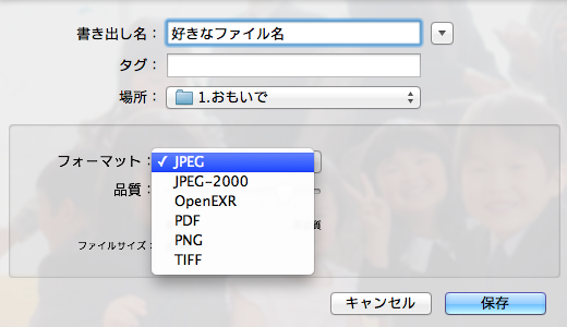 【jpeg⇔png】プレビューでファイル名を一括変換!