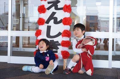 東川町の幼保(こども園)幼児センターももんがに娘入園式