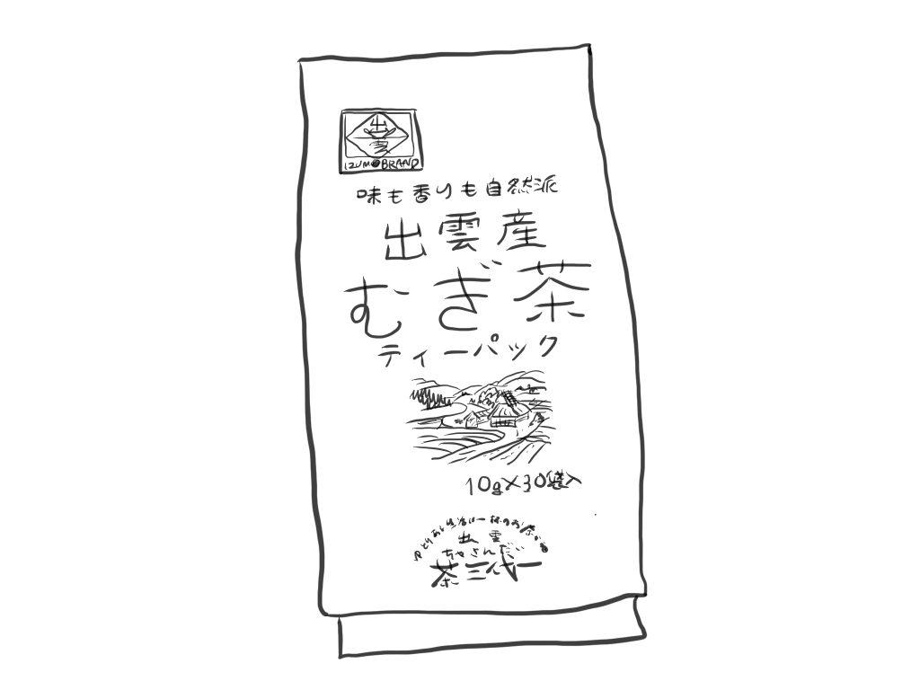 茶三代一 出雲産 むぎ茶ティーパック 10g×30包