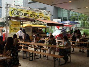 新宿駅前のビアガーデン!「NEWoMan(ニュウマン)オクトーバーフェストガーデン2016」に実際に行ってみた!ランチタイム風景