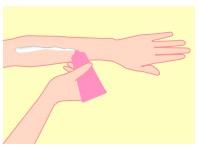 日焼け止めの塗り方(手足などの広範囲)