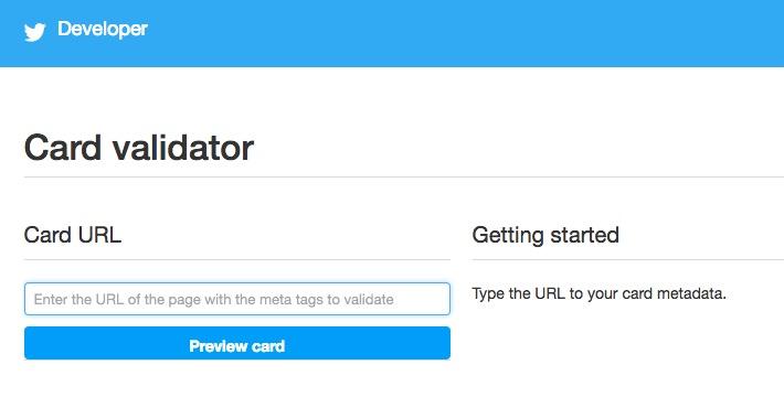 Twitterのキャッシュを更新するCard validator