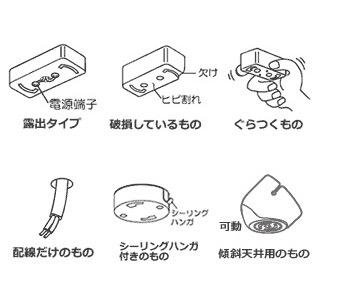 シーリングファン(配線金具の状態)