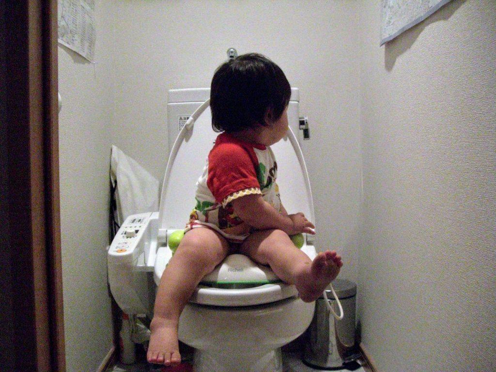 1才8ヶ月男の子のトイトレの進め方・方法、飛ぶから座らせて拭くしかない