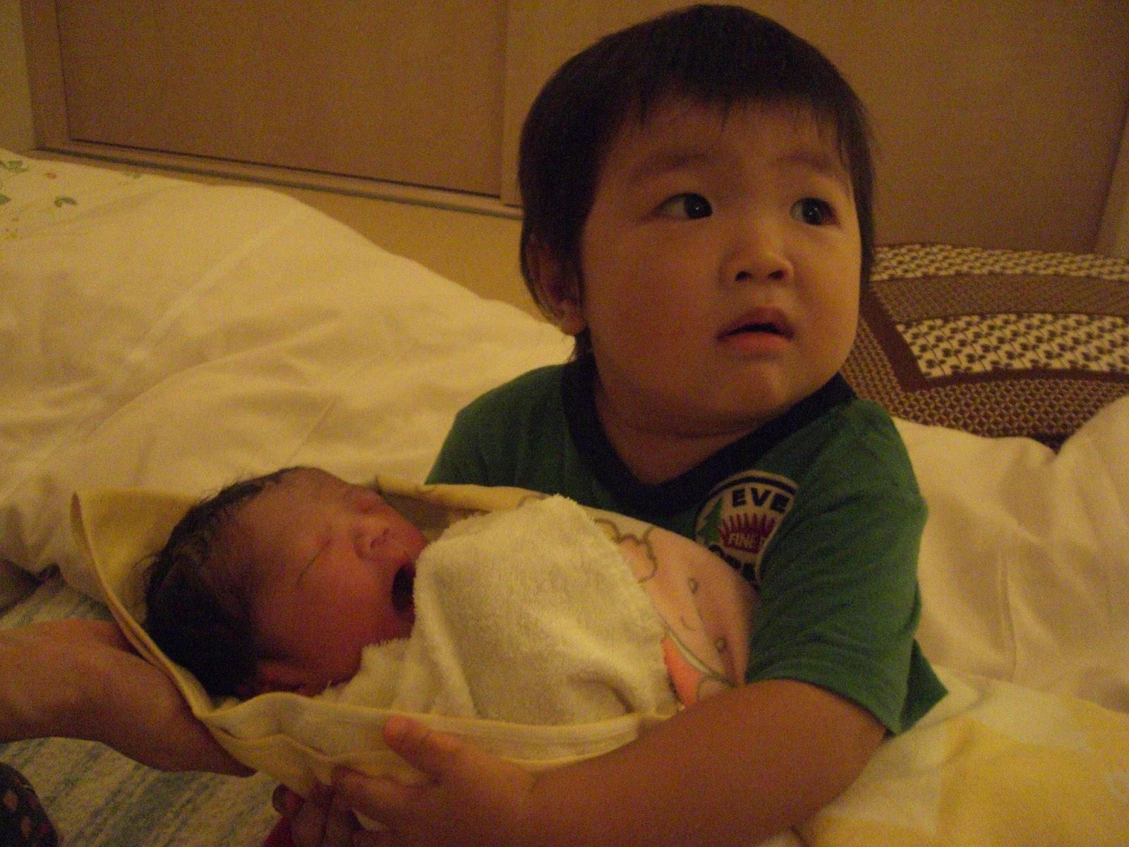 東京の助産院で2人目を出産