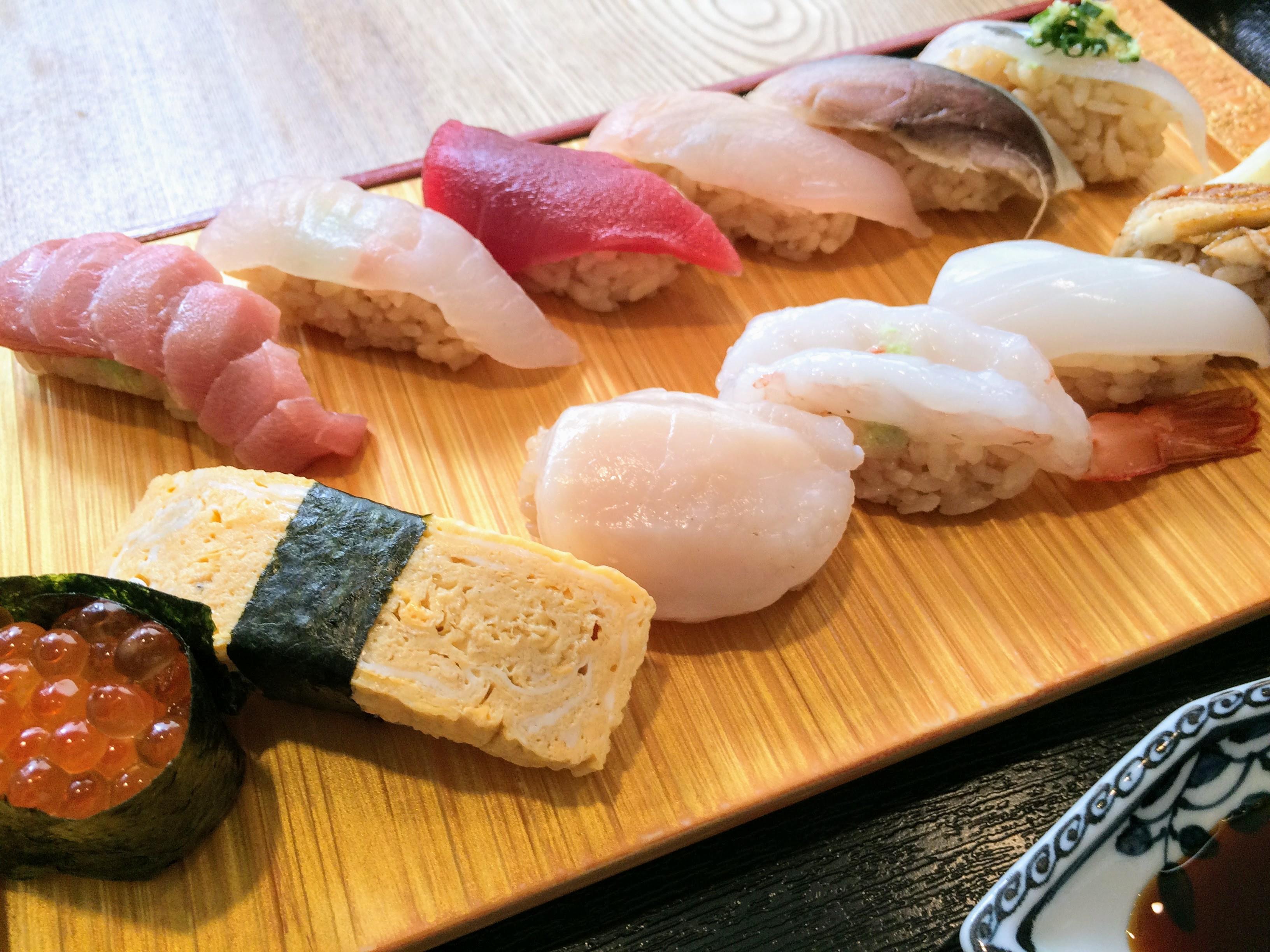 代々木の寿司高瀬のランチ寿司