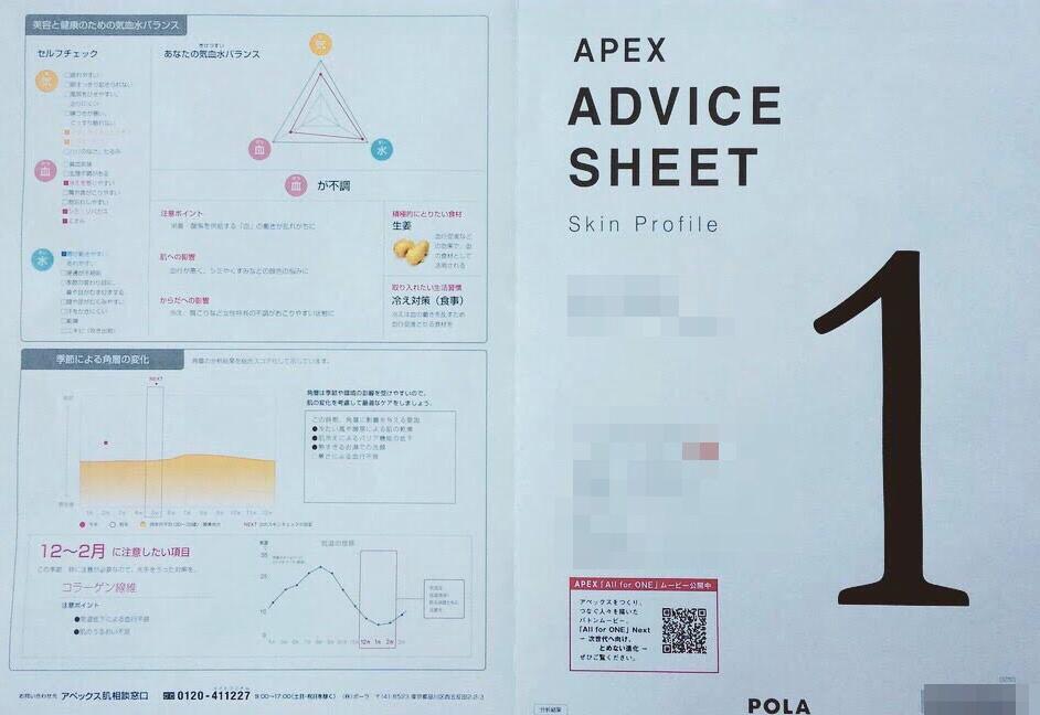 POLA(ポーラ)アペックスの肌診断結果(スキンチェック)