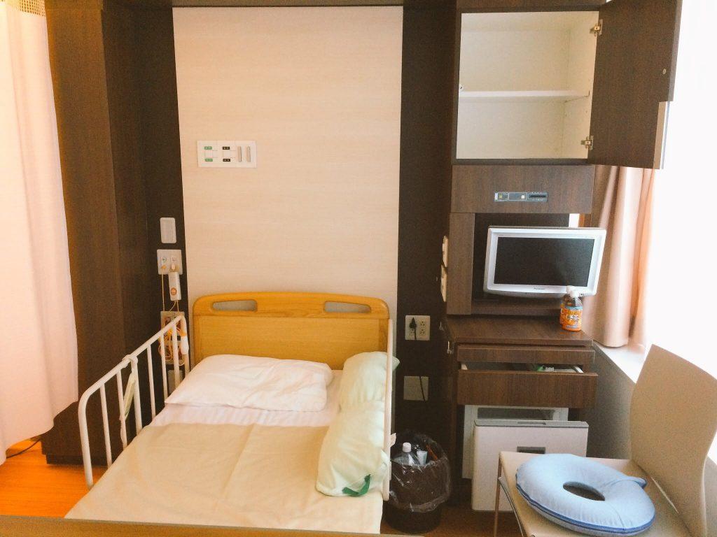 日本赤十字病院(広尾日赤)の産科の大部屋 差額なしの部屋