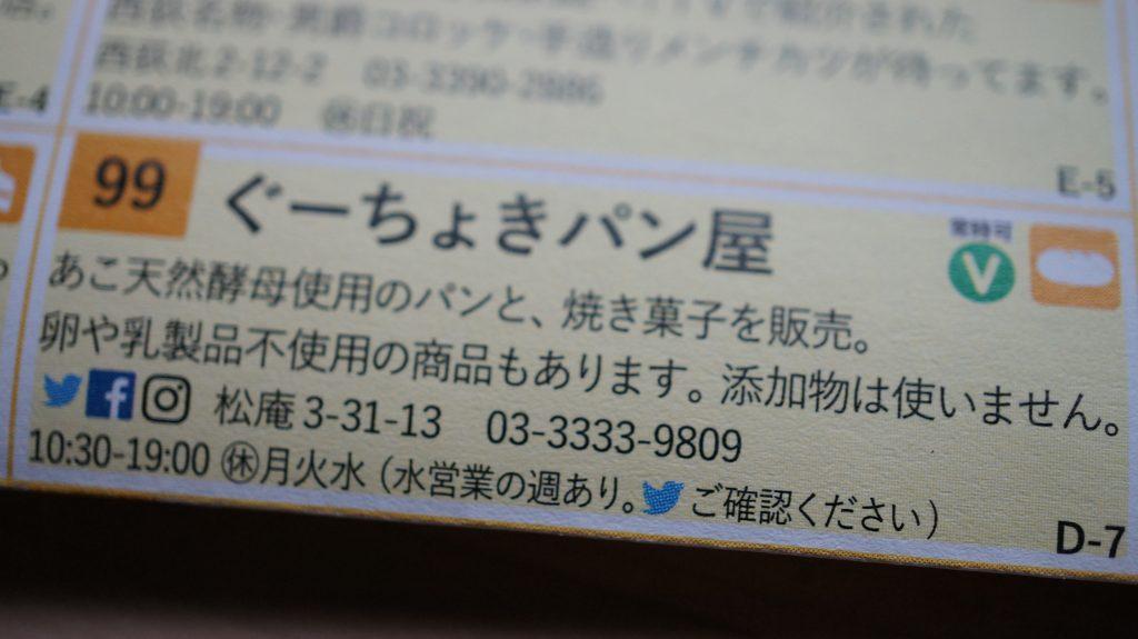 西荻まち歩きマップ2019-ぐーちょきパン屋