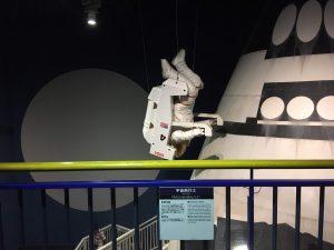多摩六都科学館展示室1「チャレンジの部屋」にはスペースシャトルが!