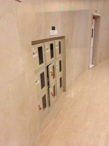 渋谷の戸栗美術館のコインロッカー