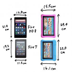 【サイズ比較】キッズタブレットはFire7とFire HD8のどちらがいい?