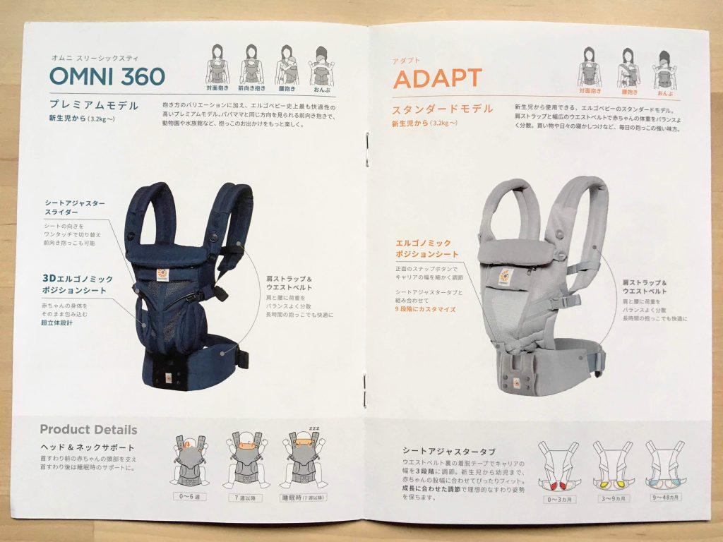 初めてのエルゴの抱っこ紐なら、アダプトよりオムニ360がおすすめ!!超立体設計の3Dエルゴノミックポジションシートがすごい!