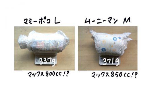 【災害時(断水時)のトイレ対策】おむつの吸収量を比較してみました!