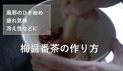飲むだけで元気がでる!梅醤番茶の作り方【基本のお手当て法シリーズ】